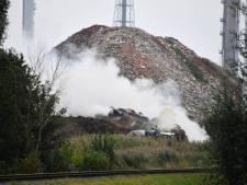 Rookoverlast door brandende hooibalen Terneuzen