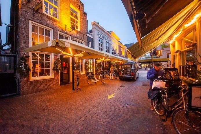 Lege terrassen in Den Bosch.