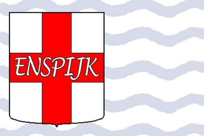 De nieuwe dorpsvlag.