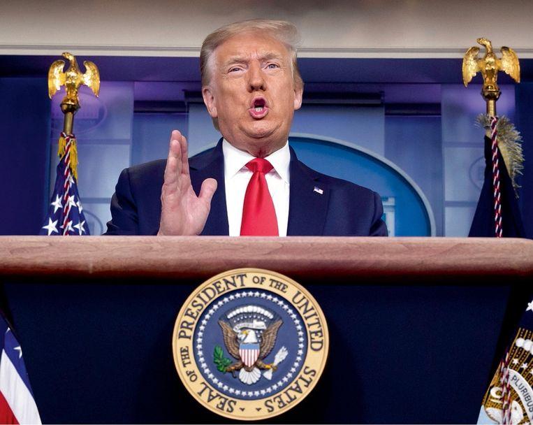 'Het was afschuwelijk om te zien hoe alle Republikeinen de grondwet van tafel veegden om Donald Trump uit de wind te zetten.' Beeld BelgaImage