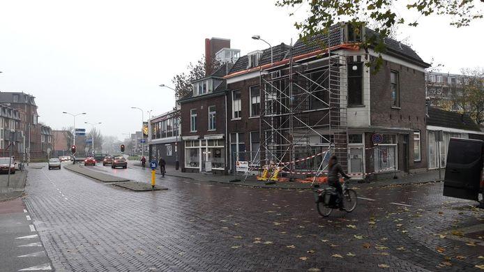 De hoek Stationsstraat - Gerdesstraat in Wageningen