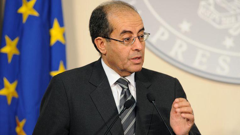 Mahmoud Jibril, regeringsleider van de Libische Nationale Overgangsraad. Beeld getty