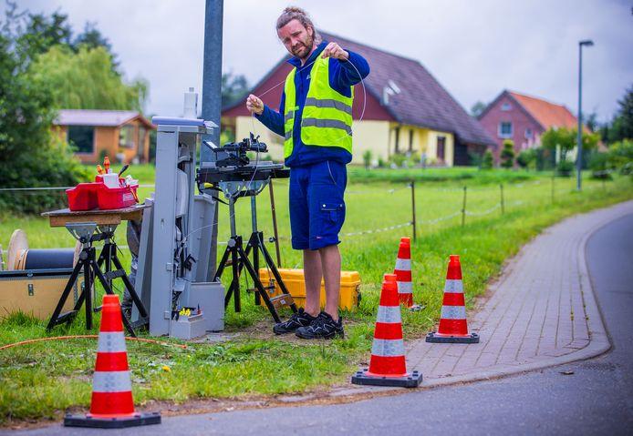 Het glasvezelnetwerk in Duitsland groeit, maar wel in een langzaam tempo.
