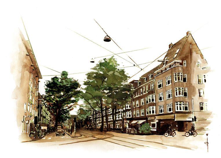 De Beethovenstraat. Beeld Sjoukje Bierma