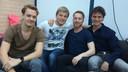 De leden van Spark of Sanity, vlnr Lambert, Nick, Robin en Bjorn.