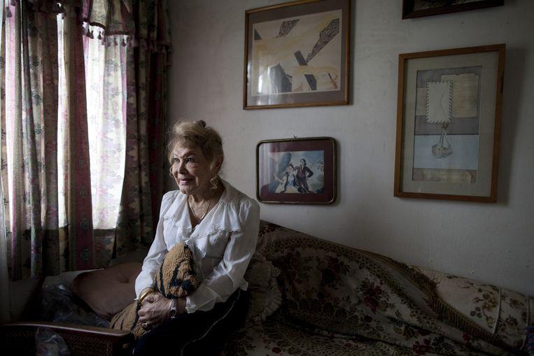 Flores in haar huis in Mexico-stad. Beeld null