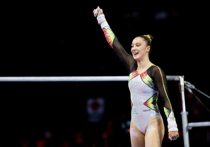 Gymnaste Nina Derwael pleitte eerder deze week voor een versnelde vaccinatie van de Belgische olympiërs.