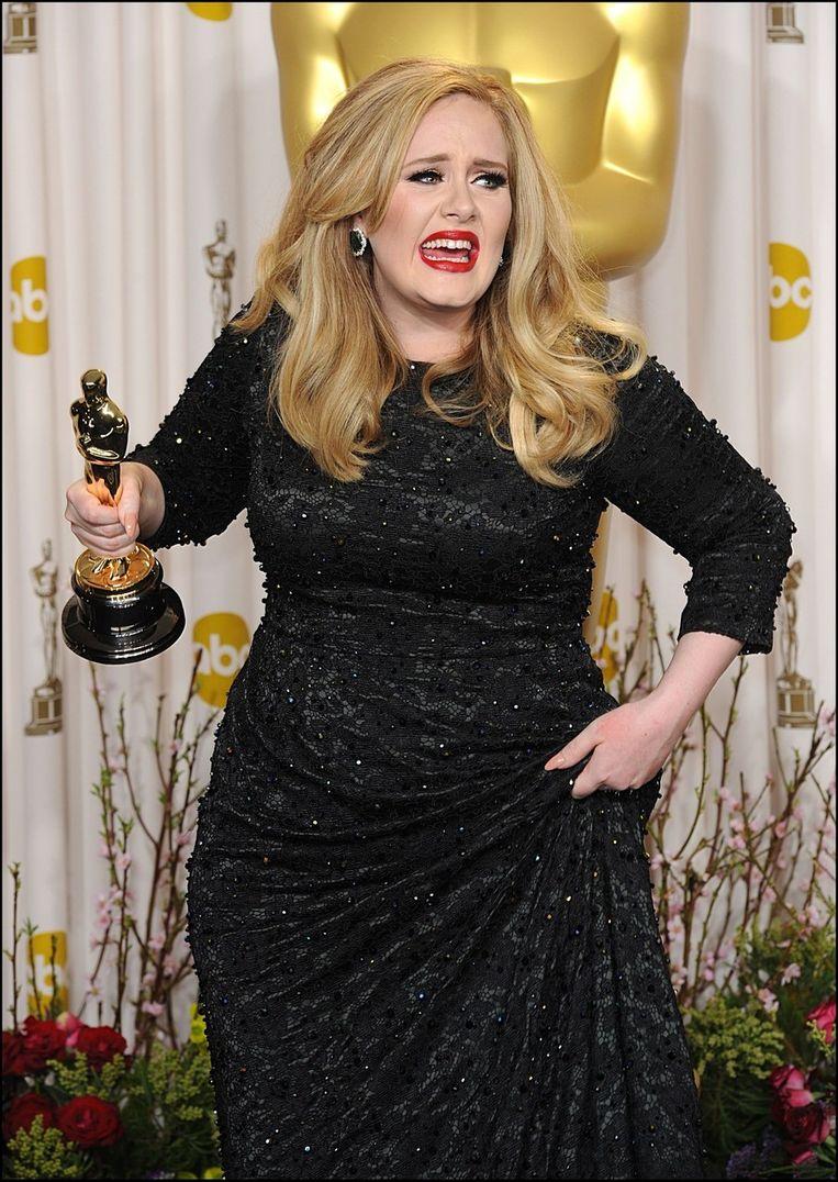 Adele won met 'Skyfall' de Oscar voor Beste Origineel Nummer.. Beeld PHOTO_NEWS