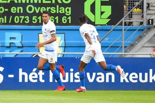 WAALWIJK, Mandemakers Stadion, 12-09-2021, Dutch Eredivisie, season 2021 / 2022, Vitesse player Danilho Doekhi after scoring 0-1 during the match RKC - Vitesse