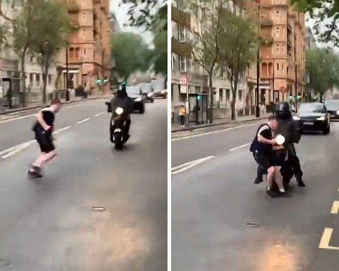Un Écossais ivre mort percute violemment une moto et continue son chemin normalement.