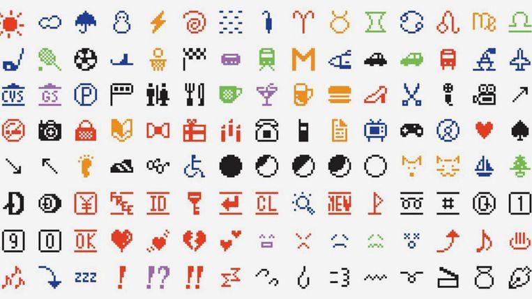 Deze emoji's maken binnenkort deel uit van de collectie van het MoMa in New York. Beeld rv