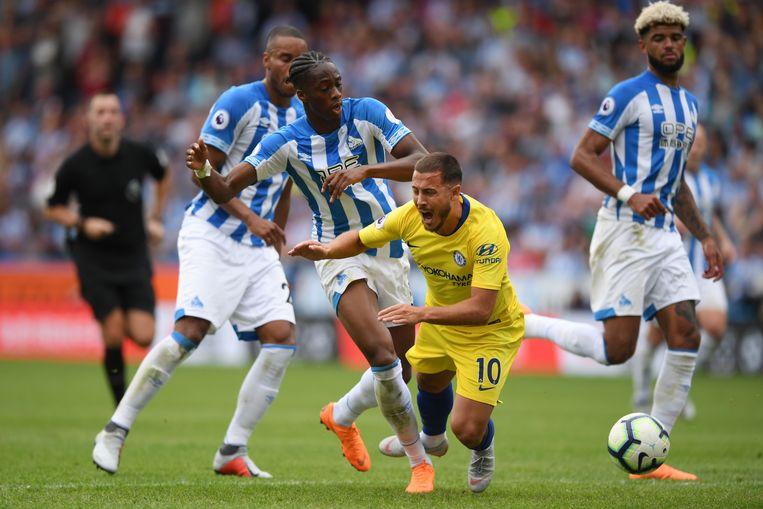 Het is maar de vraag of de Nederlandse voetballer Terence Kongolo in Engeland had kunnen spelen wanneer het voorgestelde toelatingsbeleid van de FA van kracht was geweest. Beeld Getty Images
