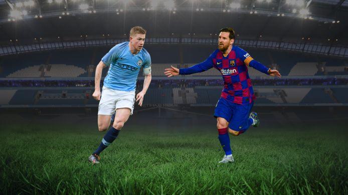 Kevin De Bruyne et Lionel Messi