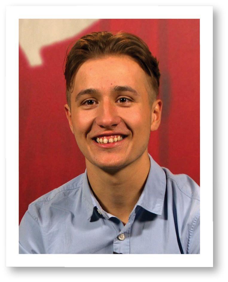 Owen: 'Ik had geen hoge verwachtingen, ik had me ingeschreven na een weddenschap (lacht).' Beeld VRT