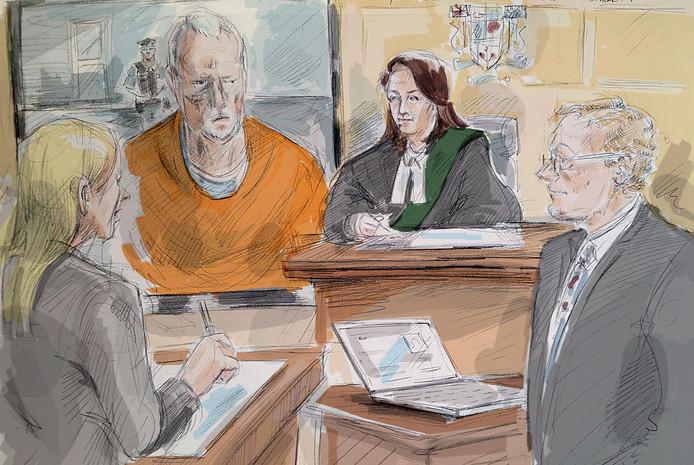 Bruce McArthur in de rechtszaal.