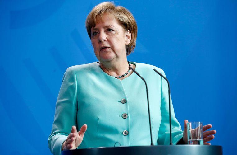 'Merkel is extreem betrouwbaar gebleken als het gaat om crisismanagement.' Beeld EPA