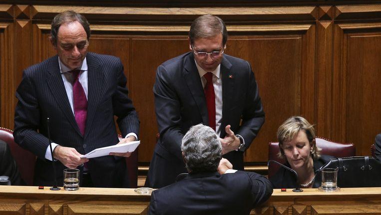 Antonio Costas in het Portugese parlement Beeld null