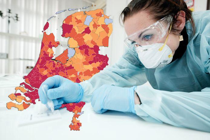 Het aantal besmettingen met corona in de Achterhoek neemt opnieuw toe.