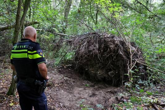 De plek waar het lichaam van Mona Baartmans is gevonden in Heinenoord.