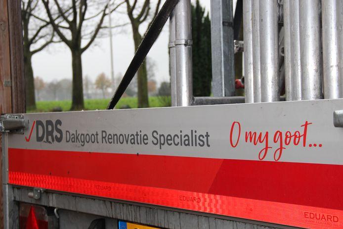 De slogan 'O my goot' op de aanhanger van DRS uit Keijenborg.