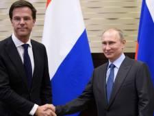 Poetin belt met Rutte