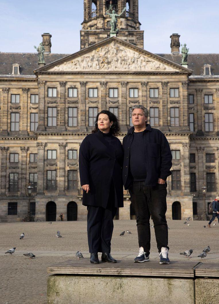 Floor van Spaendonck en Gijs Stork. 'De verhalen liggen op straat.' Beeld Jan Willem Kaldenbach