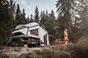 Terug van weggeweest: de vouwwagen. Als je bij deze offroader van Campwerk de tent eraf haalt, is hij ook inzetbaar als transportaanhanger.