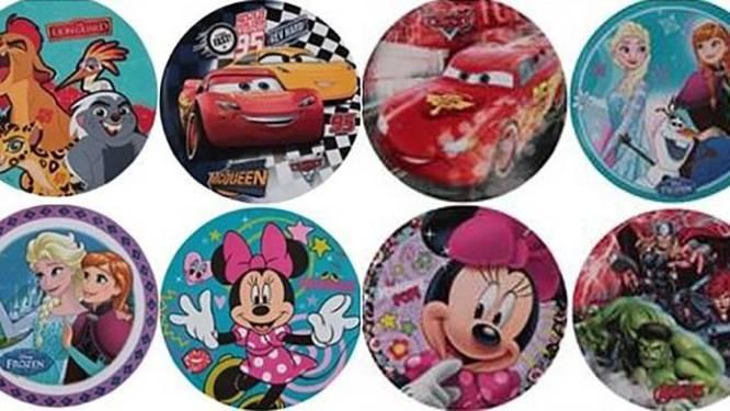 Disney-bordjes uit de rekken bij Zeeman