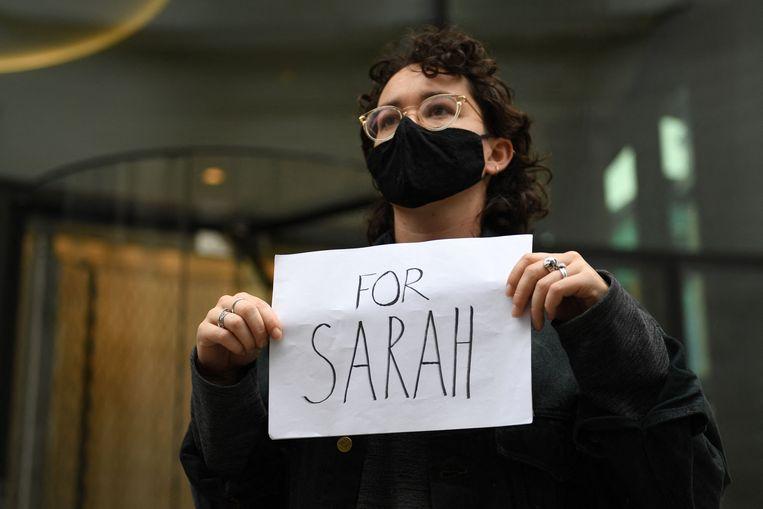 De vermissing en dood van Everard leidde in het Verenigd Koninkrijk tot grote ophef over de veiligheid van vrouwen op straat. Beeld AFP