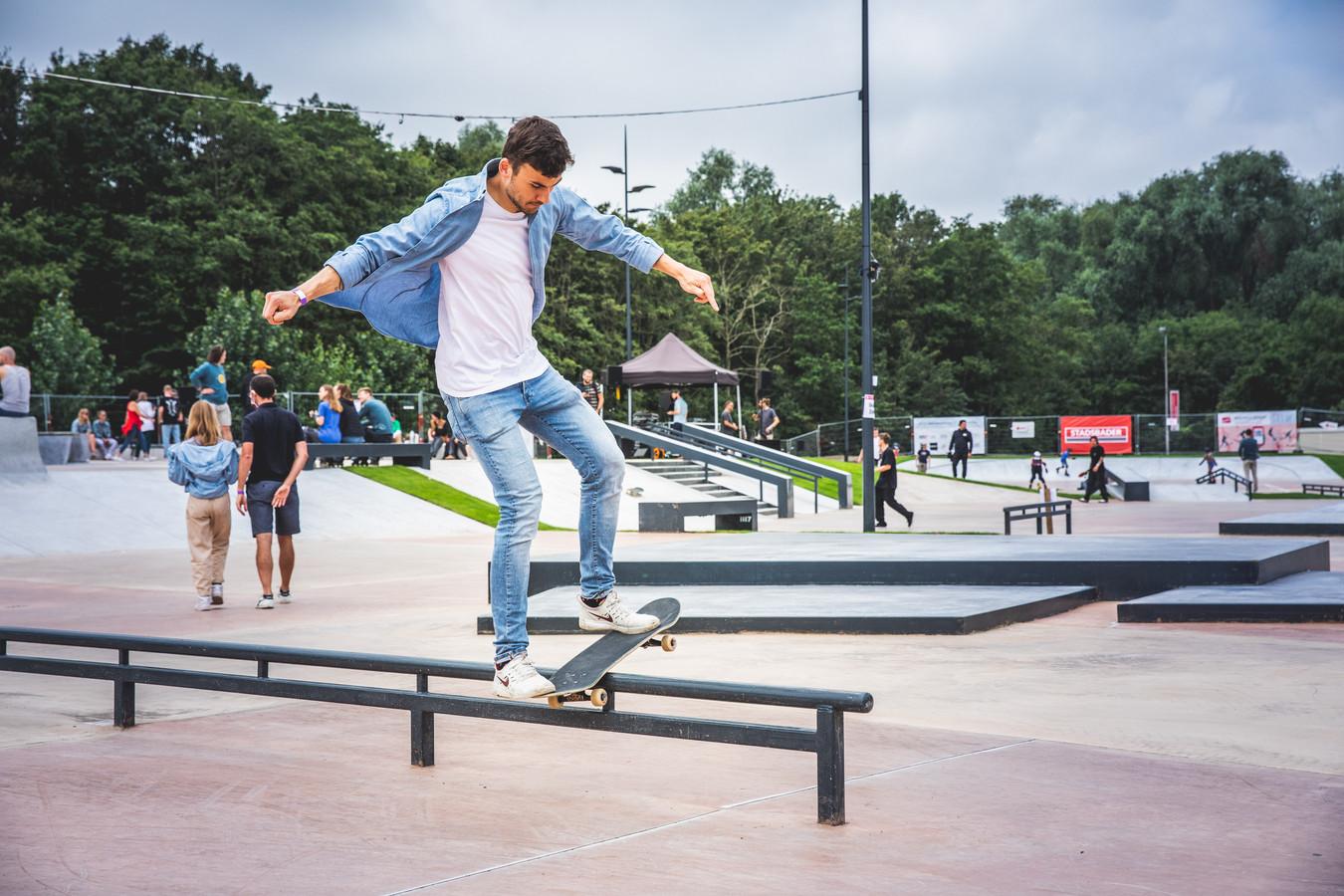 Het skatepark aan de Blaarmeersen.