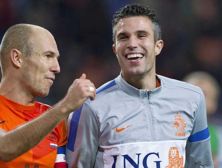 Arjen Robben (L) en Robin van Persie. Beeld reuters
