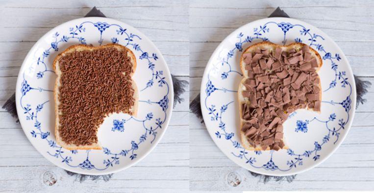 Chocoladehagel vs vlokken: dit beleg bevat de meeste calorieën