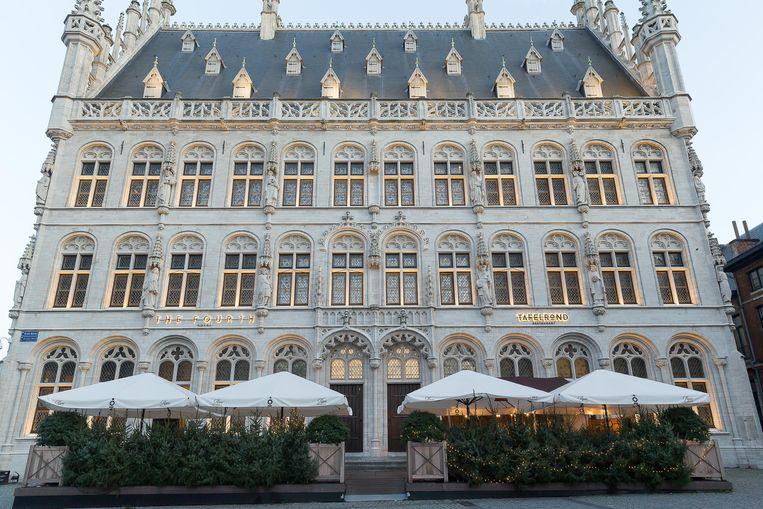 Hotel The Fourth op de Grote Markt in Leuven. Beeld BELGA