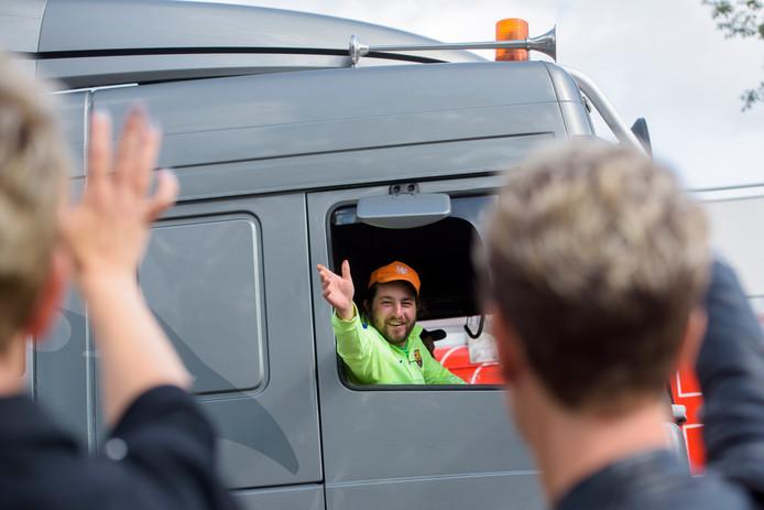 De jaarlijkse Truckrun door de Kempen