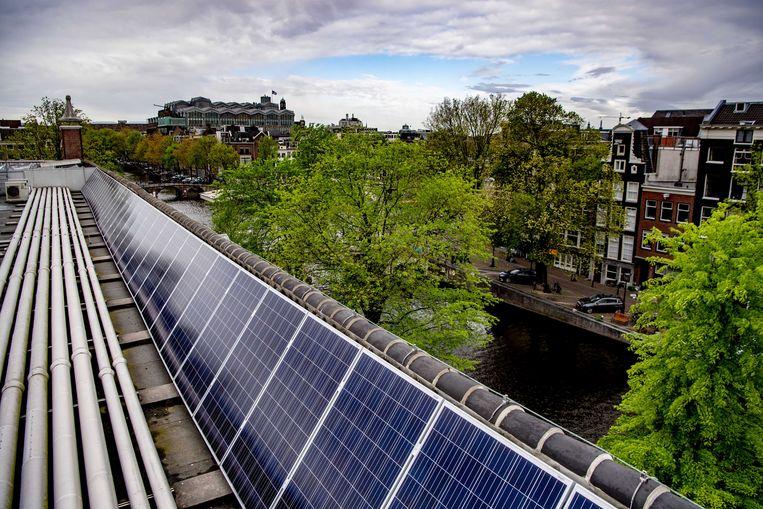De Hermitage kreeg in 2019 als eerste rijksmonument zonnepanelen. Beeld ANP