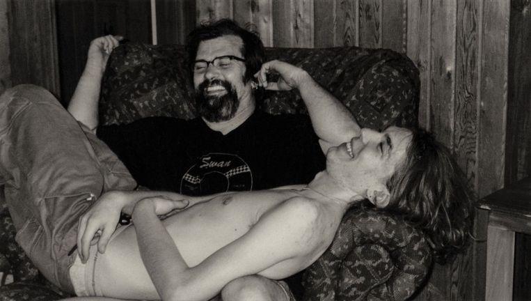 Steve Earle met zijn zoon Justin Townes. Beeld rv
