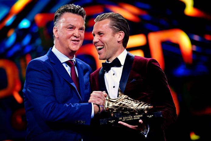Ruud Vormer kreeg de Gouden Schoen vorig jaar uit handen van Louis van Gaal.