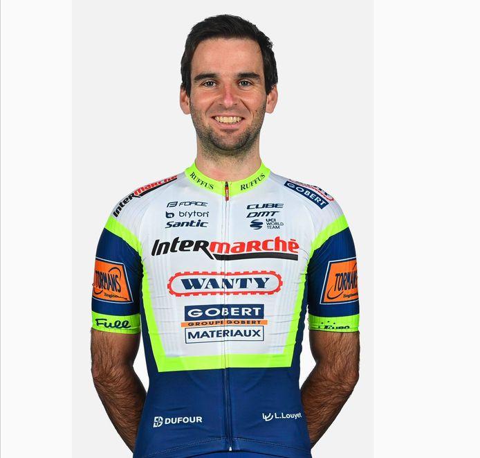 Baptiste Planckaert showt in de Ronde van de Algarve voor het eerst dit jaar het shirt van zijn nieuwe ploeg Intermarché-Wanty-Gobert.