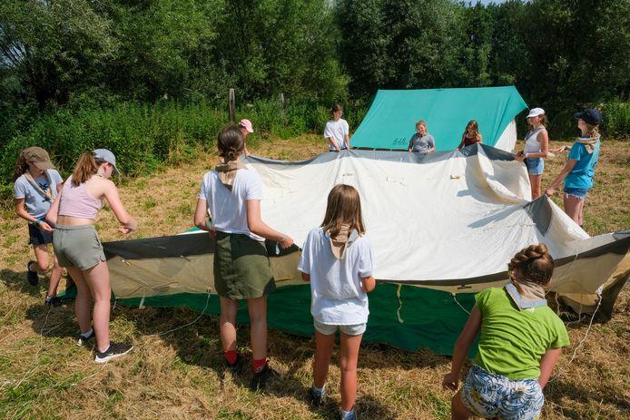 De Hasseltse scouts konden finaal terecht op een terrein in Hofstade.