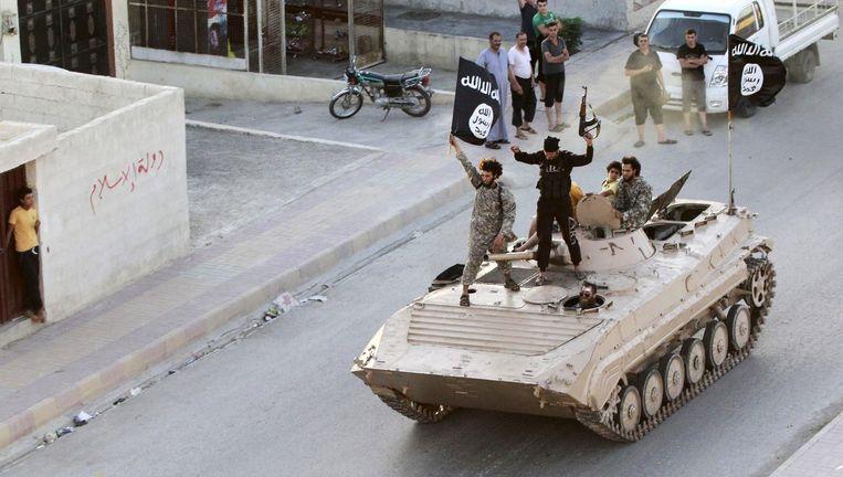 IS-strijders in het Syrische Raqqa.