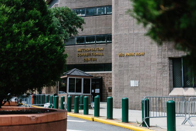 In het Metropolitan Correctional Center werd Jeffrey Epstein zaterdagochtend dood aangetroffen in zijn cel.  Beeld EPA