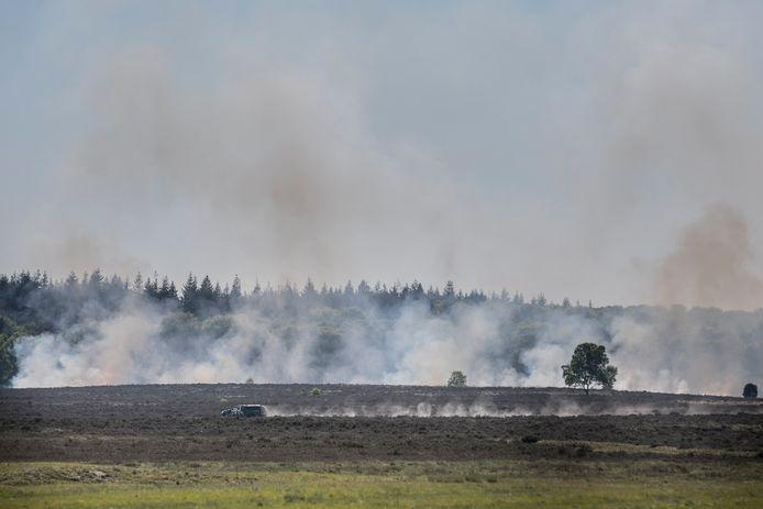 De brand op de Ginkelse Heide bij Ede.