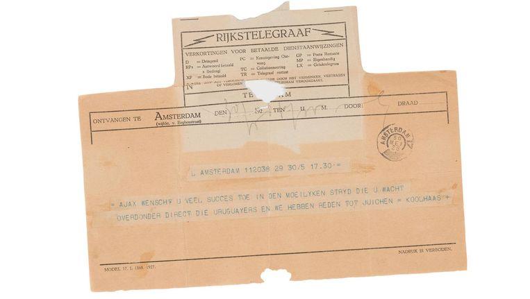 Ajax stuurde een telegram naar het Nederlands elftal Beeld Daniel Rommens
