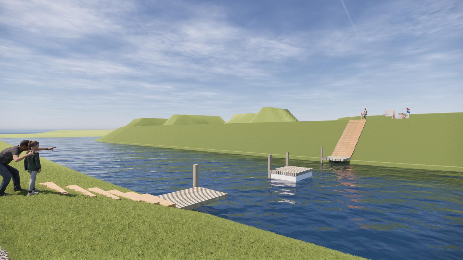 Sfeerimpressie plannen Fort Buitensluis.