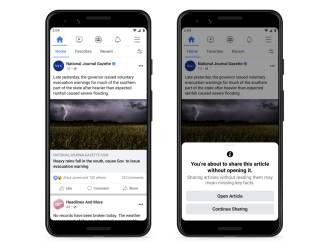 Facebook test systeem uit om gebruiker artikel eerst zelf te laten lezen voor het te delen