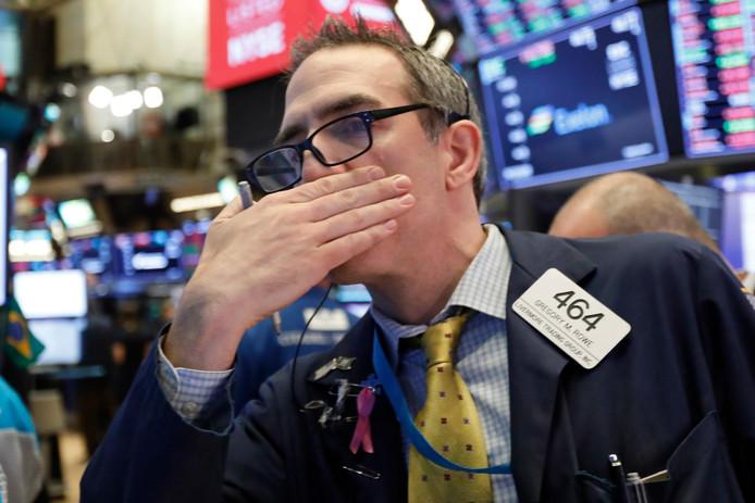 Aandelenhandelaar op Wall Street.