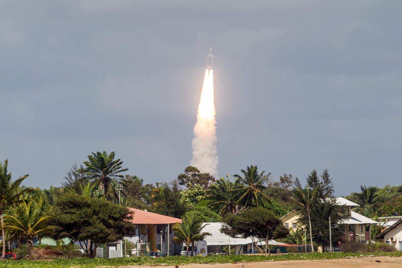 De lancering van de Ariane-5-raket, in 2016.