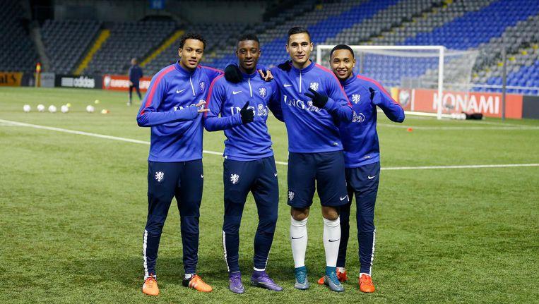 De vier van Ajax: Riedewald, Bazoer, El Ghazi en Tete Beeld Pro Shots