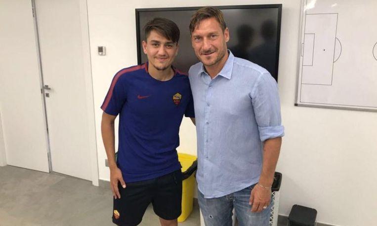 Cengiz Ünder en Francesco Totti