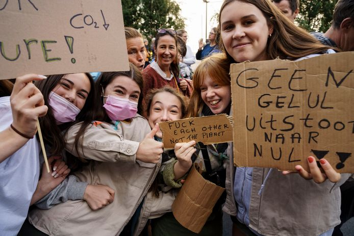De klimaatmars vorige zondag in Brussel